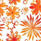 Rotating Flowers Seamless Vector Pattern Design