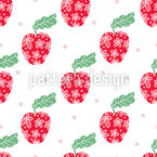 Apple In Sight Seamless Vector Pattern Design