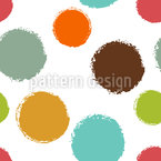 Ice Cream Scoops Seamless Vector Pattern Design
