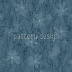 Night Meadow Seamless Vector Pattern Design
