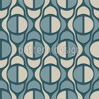 Ouzoud Waterfalls Seamless Vector Pattern Design