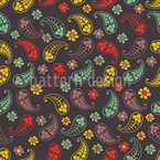 Herbst Paisley Mix Muster Design