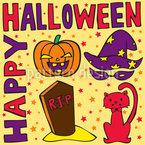 Halloween Grüsse Designmuster