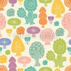 Magischer Wald Nahtloses Vektormuster