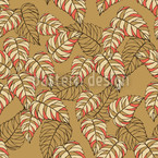 Birch Leaf Beige Seamless Vector Pattern Design