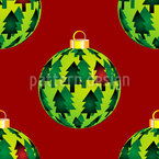 Fir Christmas Baubles Vector Pattern
