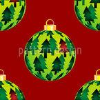 Tannen Weihnachtskugeln Nahtloses Vektormuster