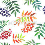 Rowan Seamless Vector Pattern Design