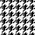 Houndstooth Timetravel Seamless Vector Pattern Design