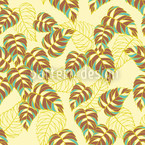 Birch Leaf Yellow Seamless Vector Pattern Design