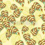 Birkenblatt Gelb Nahtloses Vektor Muster