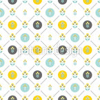 Scandinavian Flowers Seamless Vector Pattern Design