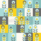 Flower Patchwork Seamless Vector Pattern Design