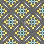 Retro Patchwork Blumen Rapportiertes Design