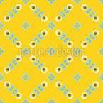 Scandinavian Retro Flowers Seamless Vector Pattern Design