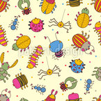 Bug Friends Seamless Vector Pattern Design