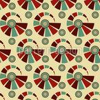 Vintage Spiralen Nahtloses Vektormuster
