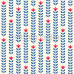 Rows Of Flowers Seamless Vector Pattern Design