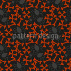 Bones And Spiders Repeating Pattern
