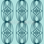 Entwined Emblems Seamless Vector Pattern Design