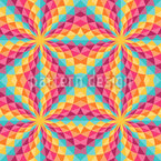 Farbiges Kaleidoskop Nahtloses Vektormuster