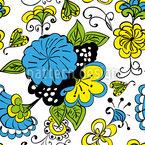 Garabato Flor Estampado Vectorial Sin Costura
