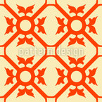 Elegant Flourish Seamless Vector Pattern Design