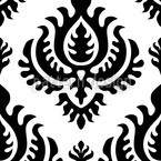 Black Baroque Seamless Vector Pattern Design