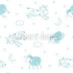 Good Night My Friends Seamless Vector Pattern Design