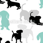 Puppies Seamless Vector Pattern Design