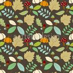 秋の自然 シームレスなベクトルパターン設計