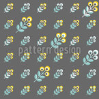 Scandinavian 70s Flowers Repeating Pattern
