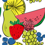 Fruit Cocktail Seamless Vector Pattern Design