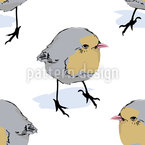 Birdie Side Glance Seamless Vector Pattern Design