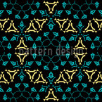 Medieval Kaleidoscope Seamless Vector Pattern Design