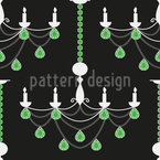Emerald Chandelier Pattern Design
