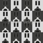 Uniforme Häuser Nahtloses Vektormuster