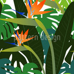 Strelitzia Seamless Vector Pattern Design