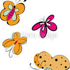 Buttterfly Excursion Seamless Vector Pattern Design