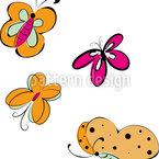 Schmetterlings Ausflug Nahtloses Vektormuster