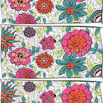 Flowers From Eden Seamless Vector Pattern Design
