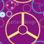 Mechanic Wheels Vector Ornament