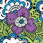 Frühlings Doodle Nahtloses Vektormuster