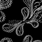 Beluga Paisley Seamless Vector Pattern Design