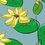 Lotus Nahtloses Vektormuster