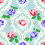 Shabby Chic Roses Seamless Vector Pattern Design