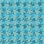 Blossom Silhouettes Vector Pattern