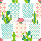 Cactus Pots Seamless Vector Pattern Design