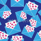 So Many Love Letters Seamless Vector Pattern Design