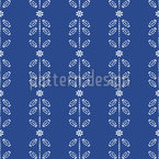 Blossom And Leaf Stripes Seamless Vector Pattern Design